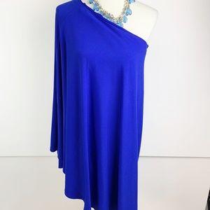 VENUS Dresses - Venus | Women's Blue One Shoulder Dress | B1610